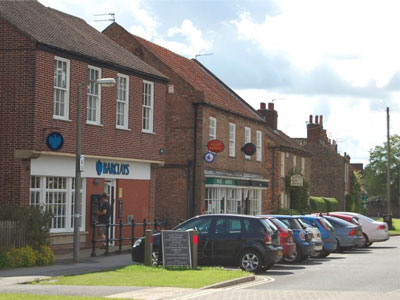 Heslington village has a post office, a deli, two pubs and four banks with cashpoints.