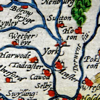 Historic map of York