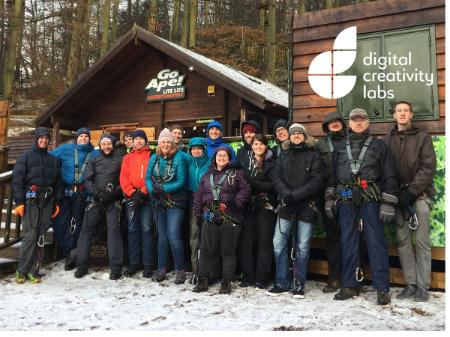 A photo of all of the members of DC Labs at Go Ape!