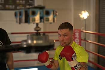 WBA Boxing champion Carl Frampton, during the production of the BBC's Fight Game project