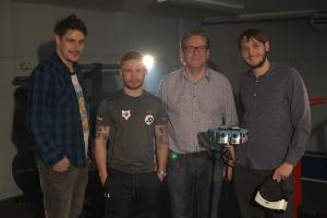 (L to R) David Cosgrove, Carl Frampton, Phil Morrow (Wild Rover Productions/Retinize's Managing Director), Jack Morrow