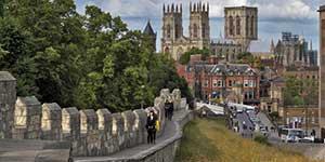 An illustrative photo of the City Walls of York.