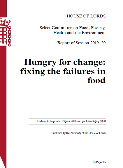 Hungry for Change Report Front Page