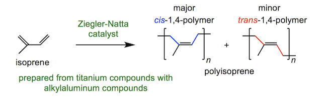 formation of polyisoprene using a Ziegler-Natta catalyst