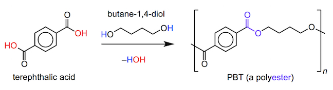 the synthesis of the polyester PBT