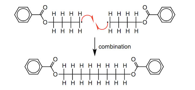 a radical combination reaction'