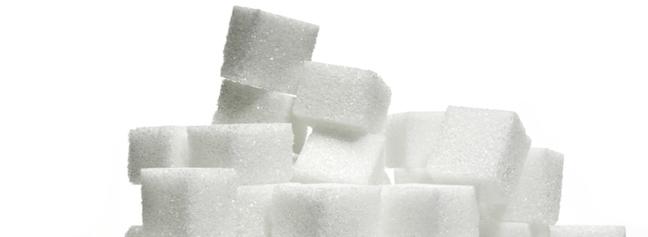 Sugar cube stack