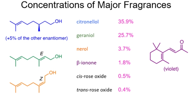 composition of rose oil