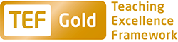 TEF Gold logo with text